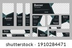 set of abstract web banner... | Shutterstock .eps vector #1910284471