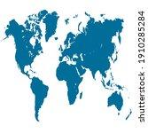 world map color vector modern.... | Shutterstock .eps vector #1910285284