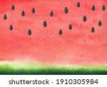Watercolor Watermelon...