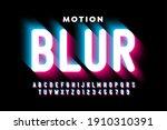 motion blur style font design ... | Shutterstock .eps vector #1910310391