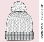 knitted beanie. knitted beanie. ... | Shutterstock .eps vector #1910311384