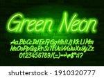 green neon alphabet font.... | Shutterstock .eps vector #1910320777