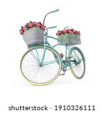 A Bicycle For Decorating Flower ...