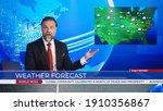 Live news studio professional...