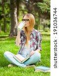 taking time for coffee break.... | Shutterstock . vector #191036744