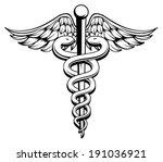 medical caduceus black and... | Shutterstock .eps vector #191036921