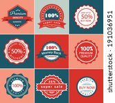 stock vector sale promotion... | Shutterstock .eps vector #191036951