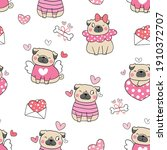 draw seamless pattern... | Shutterstock .eps vector #1910372707