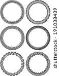 set of round frames  | Shutterstock .eps vector #191038439