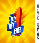 buy one   get one free  vector...   Shutterstock .eps vector #1910394181
