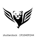 mythical winged lioness or puma ... | Shutterstock .eps vector #1910409244