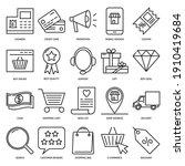 online shop icon set in line...   Shutterstock .eps vector #1910419684