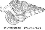 shell coloring page design... | Shutterstock .eps vector #1910427691