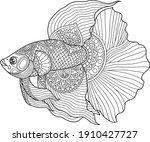 Betta Fish Coloring Page Design ...