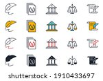set of law and justice icon....   Shutterstock .eps vector #1910433697