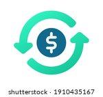 money flow turnover single...   Shutterstock .eps vector #1910435167