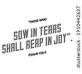 A Bible Verse Illustration...