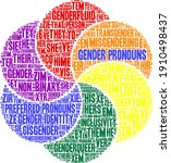 gender pronouns word cloud on a ...   Shutterstock .eps vector #1910498437