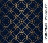 geometric pattern. gold on dark ... | Shutterstock .eps vector #1910508544