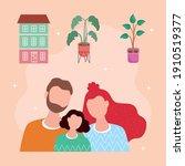 love family members characters... | Shutterstock .eps vector #1910519377