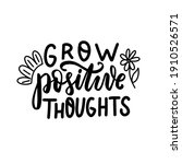 grow positive thoughts. mental... | Shutterstock .eps vector #1910526571
