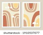 abstract wall art vector set.... | Shutterstock .eps vector #1910537077