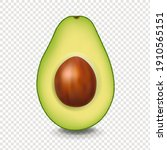 realistic avocado with white...   Shutterstock .eps vector #1910565151