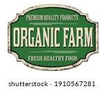 organic farm vintage rusty... | Shutterstock .eps vector #1910567281