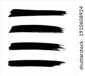 art black ink abstract brush... | Shutterstock .eps vector #1910608924