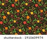 bell pepper and herbs cartoon...   Shutterstock .eps vector #1910609974