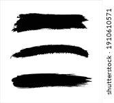 art black ink abstract brush... | Shutterstock .eps vector #1910610571