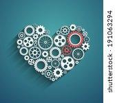 heart with gears  vector... | Shutterstock .eps vector #191063294