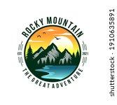 mountain logo design vector... | Shutterstock .eps vector #1910635891