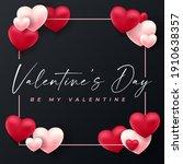 happy valentines day .... | Shutterstock .eps vector #1910638357