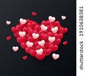 valentine background design .... | Shutterstock .eps vector #1910638381