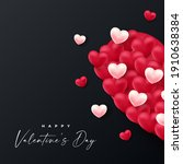 happy valentines day .... | Shutterstock .eps vector #1910638384