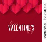 valentine background design .... | Shutterstock .eps vector #1910638411