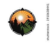 mountain logo design vector... | Shutterstock .eps vector #1910638441