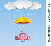 happy umbrella day celebration...   Shutterstock .eps vector #1910639431