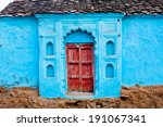 Beautiful House With Blue Color ...