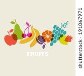 vector fruits. healthy... | Shutterstock .eps vector #191067971