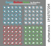 rectangle game button pack with ...