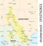 map of the rio grande  rio... | Shutterstock .eps vector #1910762821