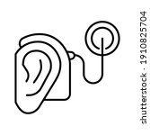 cybernetics  cochlear implant... | Shutterstock .eps vector #1910825704