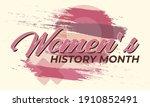 women's history month....   Shutterstock .eps vector #1910852491