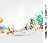 abstract music background with... | Shutterstock . vector #191085374