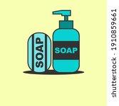 healthy soap logo design vector | Shutterstock .eps vector #1910859661