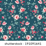 seamless floral pattern.... | Shutterstock .eps vector #191091641