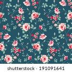 seamless floral pattern.... | Shutterstock .eps vector #191091641