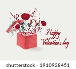valentine's day greeting card.... | Shutterstock . vector #1910928451